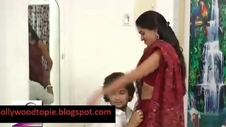 Hot Bhabi romance with juvenile boy unannounced flim