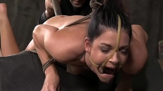 S&m sub India Summer ass toy plowed