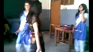 indian girl dancing in school