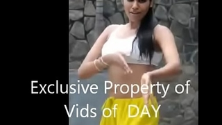 Sexy Indian Unsubtle dancing in sports bra