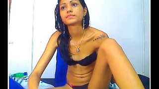 Indian teen wearing nefarious brassiere together with g-string 3