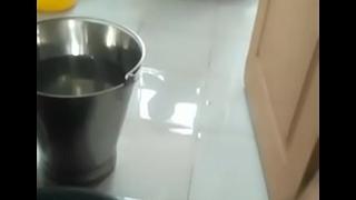 Indian babhi stuff the clergy washing in masterfulness