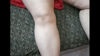 My Indian Housewife showing her creamy thigh respect highly at bottom it