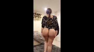 My fake buttocks US Indian gf in thong in bedroom (loop)