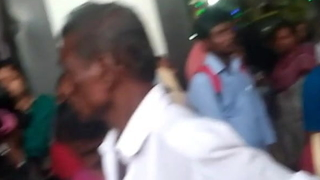 Old groper buffeting into aunty up to the arse in crowd part-3
