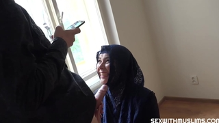 Nikky Dream is wearing a head scarf while fucking a man, because in the money turns him on